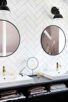 Danish tap and shower system design. The faucets come in the surface colours: Steel, PVD, brushed brass and copper, matt black e. Bathroom Goals, Small Bathroom, Bathrooms, Stylish Home Decor, Cheap Home Decor, Modern Toilet, Herringbone Tile, Chevrons, Simple House