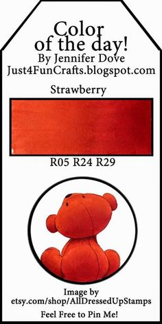 Copic Color of the Day 197 Strawberry and DoveArt Studios