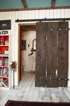 barn boards make for the perfect door