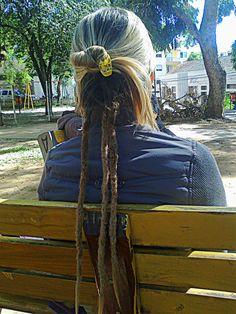 Três dread locks com alongamento de cabelo sintético na Suelen de Santa Maria - RS