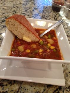 Simple! Simple! Simple! Vegetable Beef Soup. Delicious!