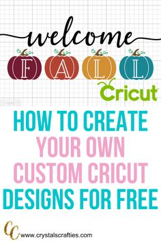 In this tutorial I'll show you how to make your own designs in Cricut Design space. When I first started with my Cricut I purchased a lot of SVG's because. Cricut Fonts, Cricut Vinyl, Cricut Air, Cricut Tutorials, Cricut Ideas, Cricut Design Studio, Cricut Help, Make Your Own, Make It Yourself
