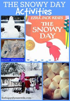 31 Days of Read-Alouds: The Snowy Day including extension activities for all ages | The Happy Housewife