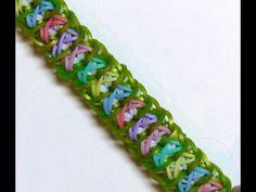 "Rainbow Loom Bracelet ""BARRACUDA"" (Original Design) (ref #3Ps) - YouTube"
