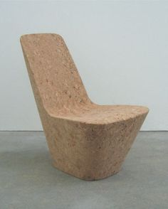Cork chair - Monopod by Jasper Morrison