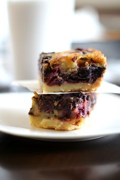 Cherry Garcia Bars. Gooey brown butter filling with chocolate and cherries on top of a light shortbread crust.