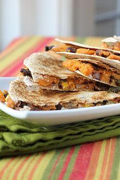 Sweet Potato and Kale Quesadillas-on the menu again this week.