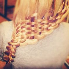 Nails, Hair, Makeup, and Clothess / basket weave braid Fancy Braids, Cool Braids, Basket Weave Braid, Basket Weaving, Braided Hairstyles, Cool Hairstyles, Beautiful Braids, Dream Hair, Hair Today