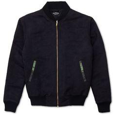 Marbek - Marbek Black Field Jacket (160 CAD) ❤ liked on Polyvore featuring men's fashion, men's clothing, men's outerwear, men's jackets, mens zip up jacket, mens leopard print jacket and mens sherpa lined jacket