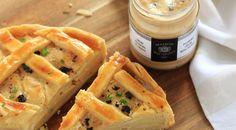 Tourte aux  pommes de terre à la Crème pécorino et Truffe Maison Baumont. Recette à découvrir sur notre blog www.maisonbaumont.fr
