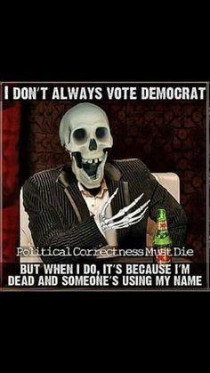 Voter fraud Political Quotes, Political Views, Political Topics, Political Science, Political Cartoons, Liberal Logic, I Don't Always, Conservative Politics, Sarcasm