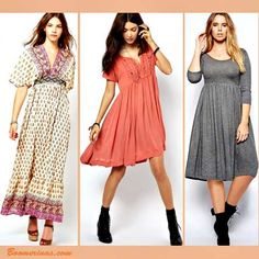 circle shape body apple clothes styles: photos Pepe, Free People, Asos Curve prshots.com GREAT BLOG http://www.boomerinas.com/2014/02/04/apple-shaped-women-31-rules-for-your-body-type/