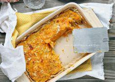 Paleo / Vegan Butternut-Kürbis-Gratin W / Crispy Schalotten (Milchprodukte / Kartoffel / Getreide frei)
