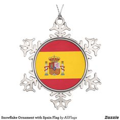 Shop Snowflake Ornament with Spain Flag created by AllFlags. Snowflake Ornaments, Ball Ornaments, Snowflakes, Christmas Ornaments, Christmas Trees, Spain Flag, Cool Pictures, Beautiful Pictures