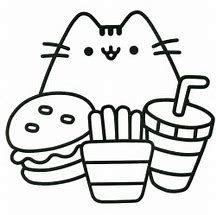 Image result for kawaii hamburger coloring