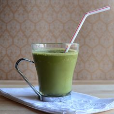 Almond Coffee Green Smoothie...Truly, if you were blindfolded...you'd never know it was green! This tastes even better than a coffeehouse iced latte...I promise!