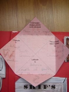 Pirate Lapbook12 compass book inside by jimmiehomeschoolmom, via Flickr