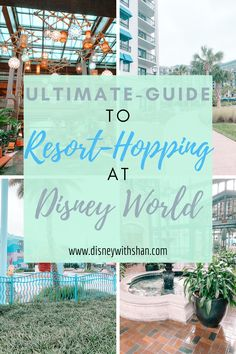 The ultimate guide to exploring the different resorts on Disney property. These include monorail, skyliner, and other resorts to spend on your free day or relaxing day at Walt Disney World. Explore shops, food, and more at each of these resorts- for free! Disney World Vacation Planning, Walt Disney World Vacations, Family Vacation Destinations, Disney World Resorts, Disney Trips, Family Vacations, Cruise Vacation, Family Travel, Disney Agents