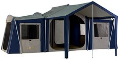 OZtrail Chateau 10 Cabin Tent--maybe Den could get me to camp IN THIS!