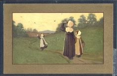 PK170-MM-VIENNE-Nr-253-a-s-BARHAM-MOTHER-DAUGHTERS-SWALLOW-BIRDS-Fine-LITHO