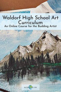 Is your budding artist looking for the next step in your (home)schooling Waldorf-inspired art curriculum? Built for high school students, and those who have completed our Foundations and Diving Deeper courses, your student will gain experience with ink, charcoal, figure drawing, acrylic painting, and so much more! Get started today! | waldorfish | art lessons | homeschooling | waldorf art | curriculum | waldorf art supplies | waldorf high school art | waldorf high school curriculum | Waldorf Curriculum, Art Curriculum, High School Curriculum, Art Courses, High School Art, Art Programs, Color Theory, Figure Drawing, Art Lessons