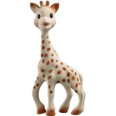 Sophie is made of 100% natural rubber and food paint. BPA an Phthalates free. $23