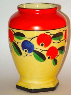 Czech art pottery urn