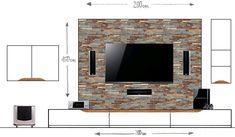 Nach dem Einzug in unsere gemeinsame Wohnung, kommen so langsam alle Puzzlesteinchen in Form von Möbeln und Gerätschaften zusammen und die ersten Detailfragen für zukünftige Projekte kommen auf - wie z.B. auch Fragen für eine geplante TV-(Vorbau)Wand im Wohnzimmer. 267055 Das obige Bild zeigt (etwas abgespeckt, weil die Hängeschränke links und rechts fehlen) in etwa die Draufsicht in Richtung der geplanten TV-Wand inkl. der tatsächlichen Gerätschaften. Das Lowboard ist ca. 300cm breit…