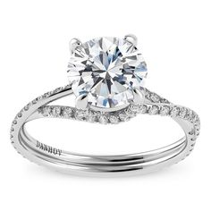 Danhov 18K White Gold Diamond Engagement Ring Setting