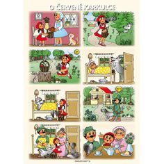 Tematický obraz: Vyprávěj pohádku: O Červené Karkulce Fairy Tale Activities, Preschool Learning Activities, Language Activities, Picture Story For Kids, Picture Comprehension, Short Stories For Kids, French Kids, Art Drawings For Kids, Creative Teaching