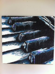abstract piano painting acrylic