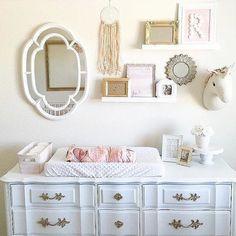 Picture frames on dresser ;)