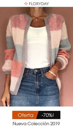 Shop Floryday for affordable Sweaters. Floryday offers latest ladies' Sweaters collections to fit every occasion. Loose Sweater, Sweater Weather, Latest Fashion Trends, Ideias Fashion, Knitwear, Sweaters For Women, My Style, Womens Fashion, Trendy Fashion
