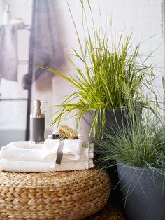 I am a dreamer Zen Bathroom, Bathroom Plants, Bathroom Interior, Ikea Towels, Ikea Bathroom Accessories, Bathroom Cabinets Over Toilet, Pella Hedeby, Ikea Plants, Houses