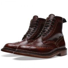 """Grenson """"Fred"""" Triple Welt Leather Boot"""