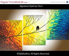 PAINTING: Love Birds in a Tree