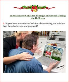 Hello! Just want to share the 6th Reason To Consider in Selling Your Home during the Holidays. Not yet decided? This may help... =)