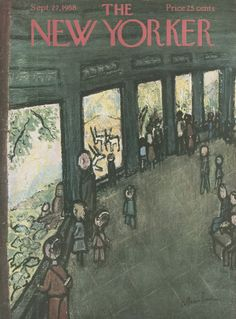Abe Birnbaum : Cover art for The New Yorker 1754 - 27 September 1958