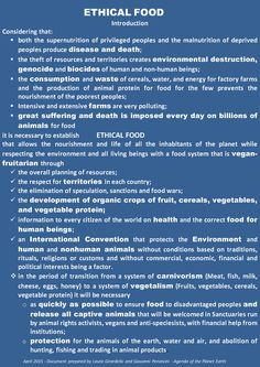 Appeal to the UN Secretary General, Ban Ki-moon, for green food: Feeding the planet without killing Descrizione immagine