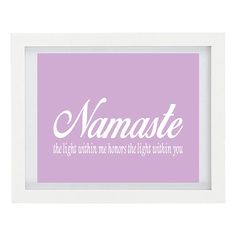 Namaste Print Yoga Art Print Inspirational by ColourscapeStudios