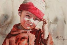 Watercolor Painting by: Chinese artist Liu Yunsheng #watercolor jd