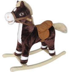 Cheval à bascule Chocolat  Cheval à bascule bicolore, pour de grands moments damusement dès 18 mois !... prix : 39.99 EUR €  chez Auchan Jeux et Jouets #AuchanJeuxetJouets