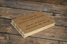 Rustic Custom Wedding Guest Book - Create Your Own - Vintage Wedding, Anniversary Party - pinned by pin4etsy.com