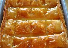 Screen Shot at Greek Sweets, Greek Desserts, Greek Recipes, Greek Pastries, Greek Cooking, Sweet And Salty, Creative Cakes, Hot Dog Buns, Bacon