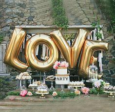 """Goedkope 4 stks/set 40 """"/100 cm Grote Gold LIEFDE Aluminiumfolie Ballon Bruiloft Festival Decoratie Ballons Valentijn Anniversary Ballonnen, koop Kwaliteit ballonnen rechtstreeks van Leveranciers van China:   Aandacht:  Hallo! Onthaal aan mijn winkel!Mini orde is 5 usd, als uw bestelling meer dan 5 usd, ik z"""