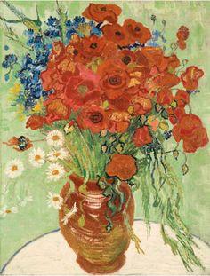 5. Vincent van Gogh Nature morte, vase aux margherite et coquelicots (1890) venduto da Sotheby di New York il 4 novembre 2014 per 61,765 milioni dollari.