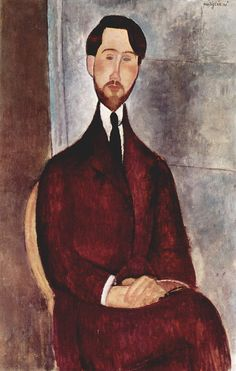 Leopold Zborowska (1889-1932) a poet and art dealer in Paris. He married Anna Cirowska, a model of Modigliani. Modigliani's posthumous fame made him wealthy, but the 1929 financial crisis ruined him, and he died in poverty. Painting by Amedeo Modigliani 043.jpg