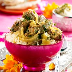 A traditional Indian style curry bursting full of authentic flavours, spices and tender pieces of lamb. Try this heart-warming curry at Tesco Real Food. Tagine Recipes, Lamb Recipes, Curry Recipes, Indian Food Recipes, Ethnic Recipes, Savoury Recipes, Porc Au Curry, Hyderabadi Cuisine, Lamb Curry