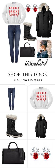 """""""#wintersweater"""" by zbrooks15 ❤ liked on Polyvore featuring Helly Hansen, Canada Goose and Karl Lagerfeld"""