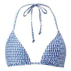 Iris All Over Printed Bikini Top